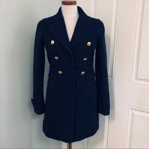 Banana Republic navy blue pea coat coat
